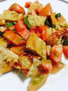 Farinata di ceci e patate con pomodori #homemade #eatgood #vegan