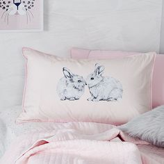 Such a simple way to add some fun to any bedroom, this Text pillowcase from Adairs Kids is unique, creative and will make a wonderful addition to your little ones bed. Woodland Room, Animal Bedroom, Pastel Bedroom, Adairs Kids, Some Bunny Loves You, Rainbow Room, One Bed, How To Make Bed, Some Fun
