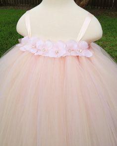 Blush hydrangea tutu dress size flower by MissSweetPeaBoutique, $70.00