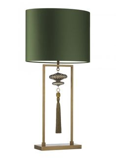 Constance Large Antique Brass Table Lamp - Heathfield & Co: