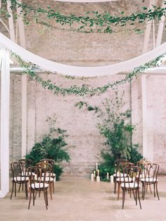 Simple indoor wedding, warehouse, gorgeous indoor wedding, Photography: Diana McGregor - dianamcgregor.com