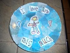 Tissue Paper Plate - 9.5 inch glass plates from Ikea.  Modge Podge words and pictures and then tissue paper.