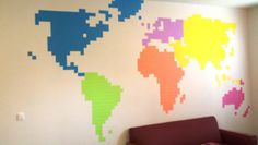 DIY post it note map