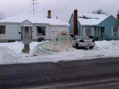 Ain't snow Jabba like a snowman Jabba.