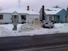 Jabba the Hutt Snowman