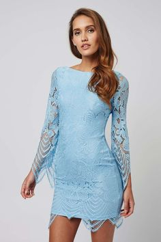 **Scallop Lace Mini Dress by Rare