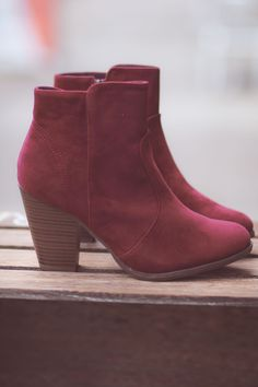 Wine To Me Short Heel Booties - NanaMacsBoutique  - 1