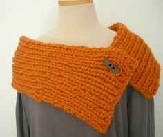 Cute Knit Capelet Pumpkin Orange $32.00