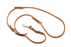 Switching leash, 5 sizes to change. Handmade from leather cord.