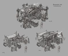 ArtStation - D3 Blacksmith shop sketches, Peet Cooper