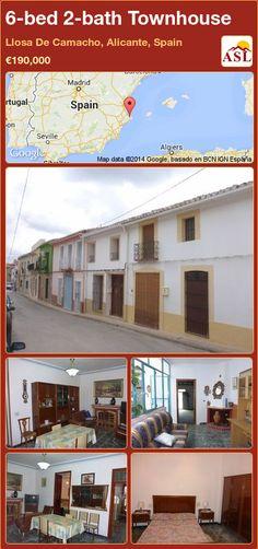 Townhouse in Llosa De Camacho, Alicante, Spain Alicante Spain, Townhouse, Spanish, Bath, Bedroom, Outdoor Decor, Life, Home Decor, Room