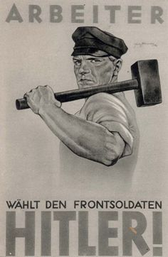 Germany, A Nazi Party elections poster.