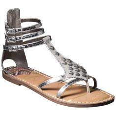 Women's Sam  Libby Karli Tall Gladiator Sandal with Triangle Studs - Silver have them. Love them! Thank u Target!