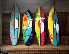 Surf art in Boards #board #surfboard #tomveiga / www.seriewaves.com
