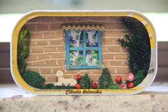 Altoids Tins, Lunch Box, Frame, Diy, Home Decor, Paper Box Template, Match Boxes, Recycled Materials, Little Gardens