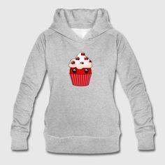 Kawaii cupcake cranberry - Women's Organic Hoodie