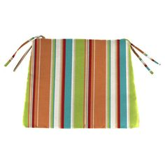 Jordan Manufacturing 20 X 17 In. Knife Edge Outdoor Seat Cushion   Covert  Breeze   The Colorful Stripes On The Jordan Manufacturing 20 X 17 In.