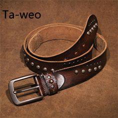 PUNK STYLE Mens Pin Buckle Belt Casual Retro Ultra-stretch Jeans Belt Belt