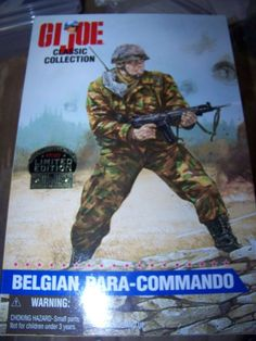 "GI Joe Classic Collection 12"""" Belgian Para Commando action figure 1997 MIB"
