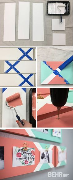 High Quality Display Your Favorite Photographs In A New And Creative Way With This DIY  Painted Clip Board. This Easy Tutorial Shows You How To Use Bright Colors  Like ...