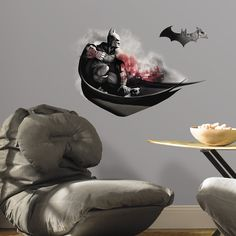 Internet Only 2 Piece Batman Arkham City Darkness Wall Decal