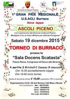 Ad Ascoli Piceno la nona tappa del Gran Prix regionale di burraco