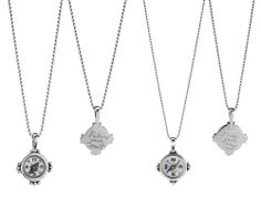 HAND ENGRAVED COMPASS NECKLACES | silver compass, sterling silver compass charm, jewelry | UncommonGoods