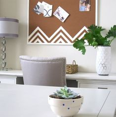 10 Ways to Update & Decorate a Basic Cork Board. For when I have the urge to paint something.