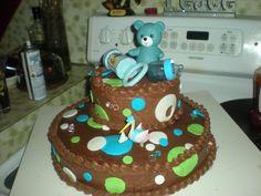 Boy baby shower cake.