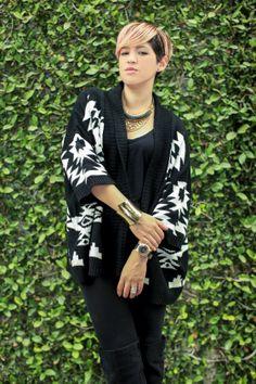 Maxi Sweather - Mexican Fashion Blog Nancy Nannuck 2014 #jewerly #maxisweather #peachhair