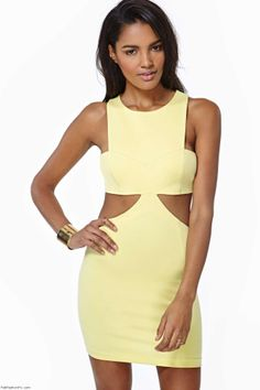 Nasty Gal cut-out dress
