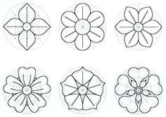 como hacer moldes para rosas de papel - Buscar con Google