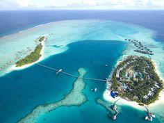 Conrad Maldives Rangali Island Hotel - Aerial shot of our hotel