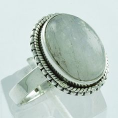 RAINBOW MOON STONE ATTRACTIVE DESIGN 925 SOLID STERLING SILVER RING #SilvexImagesIndiaPvtLtd #Statement