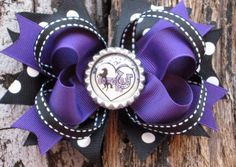 Cowgirl Hair Bow w/ Cowgirl Up Bottle Cap by PolkaDotzBowtique, $7.99