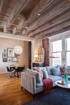 Old factory converted into a trendy loft apartment in downtown Houston by interior designer Kristina Wilson