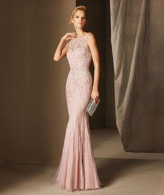 BAMBOLA - Γοργονέ φόρεμα δεξίωσης, με στρογγυλή κλειστή λαιμόκοψη, από τούλι | Pronovias