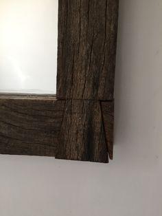 Espejo en madera reciclada -encastre