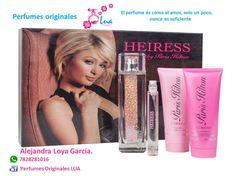 Perfumes Originales LUA, Te obsequiara un magnifico Set de Heiress Paris Hilton.