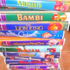 Wow- VHS memories of when the kids were growing up. Great times. <3
