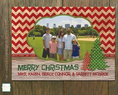 Printable Christmas Card  Photo Christmas by HarvestJoyDesigns