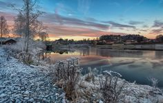 Hønefoss - A part of the small town where I live. This is a blend of six exposures. Captured two days ago.