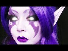 Make-up-Tutorial für Nachtelfen (World of Warcraft) (PZC) Elf Cosplay, Elf Costume, Cosplay Makeup, Costume Makeup, Halloween Cosplay, Halloween Makeup, Costume Ideas, Costumes, World Of Warcraft Druid