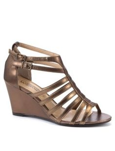 Gold Roman Wedge Sandals