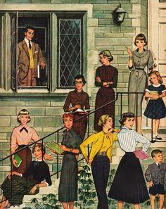 1950s fashion illustrations - Google Search