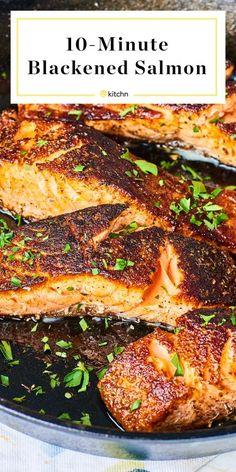 Salmon Recipes Oven With Sauce Grilled Easy For Christmas . Orange Glazed Cajun Salmon Layers Of Happiness. Blackened Salmon And Quinoa Salad With Lime Vinaigrette . Fish Dishes, Seafood Dishes, Seafood Recipes, Dinner Recipes, Seafood Platter, Healthy Recipes, Cooking Recipes, Sushi Recipes, Egg Recipes