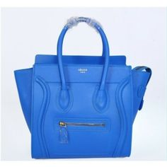 Celine Luggage Small Handbag Blue