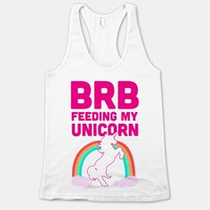 Sorry, brb, gotta feed my unicorn. Yes, I have a unicorn, you don't believe me? Well then I guess you just lost your riding privileges. Have fun on your plain old boring horse. #unicorn #fantasy #magic #rainbows #princess