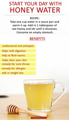 START YOUR DAY WITH HONEY WATER