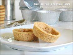 Gusci di biscotto per tartellette ideali come base da farcire per preparare dei deliziosi dolcetti al cucchiaio. La preparazione è senza cottura, facile ..